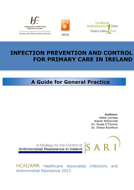 Infection Prevention And Control For Primary Care In Ireland
