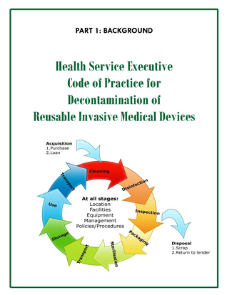 Health Service Executive Code Of Practice For Decontamination Of Reusable Invasive Medical Devices