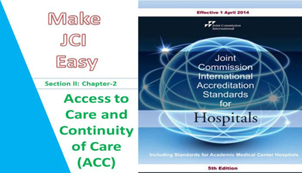 Make JCI Easy - Access To Care And Continuity OF Care (ACC)
